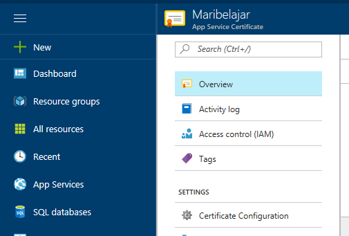 3 Steps to Obtain and to Configure SSL on Azure with